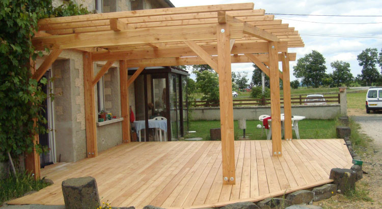 charpente bois pour terrasse